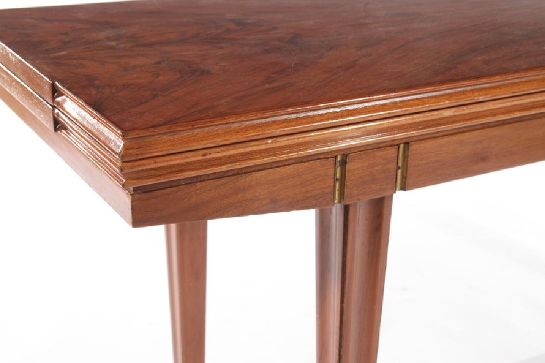ITALIAN FLIP TOP WALNUT CONSOLE TABLE 1960 - 6