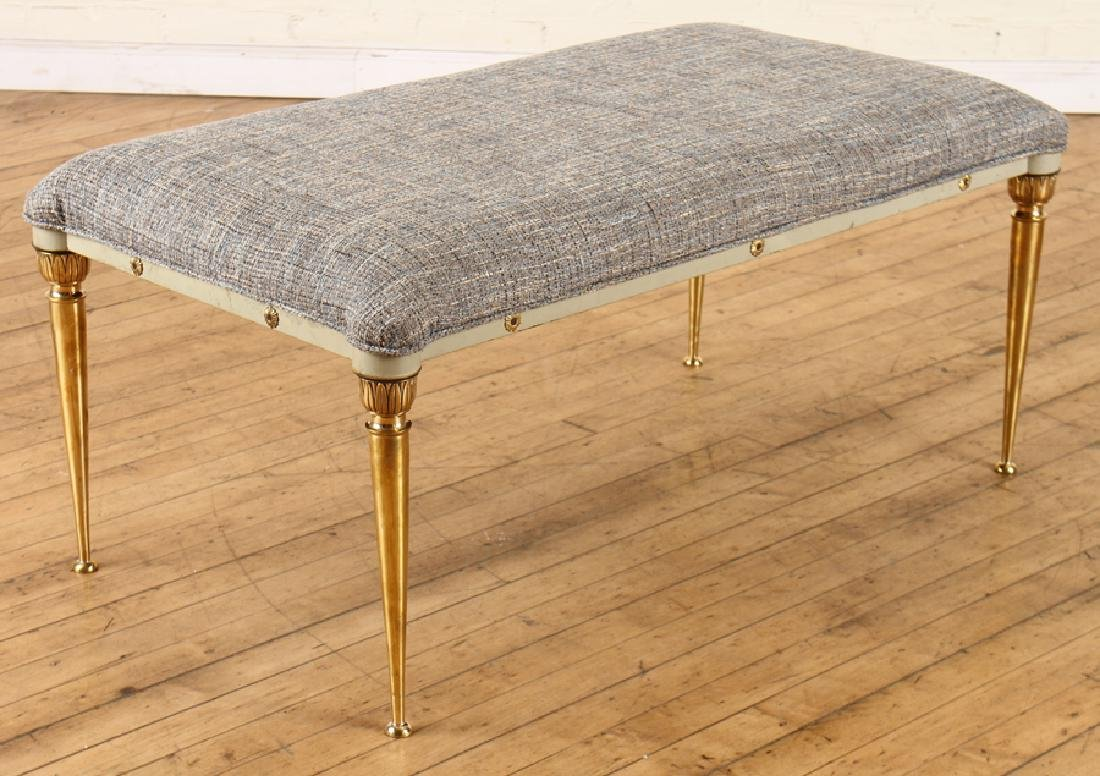 REGENCY STYLE BRONZE IRON BENCH  C.1950