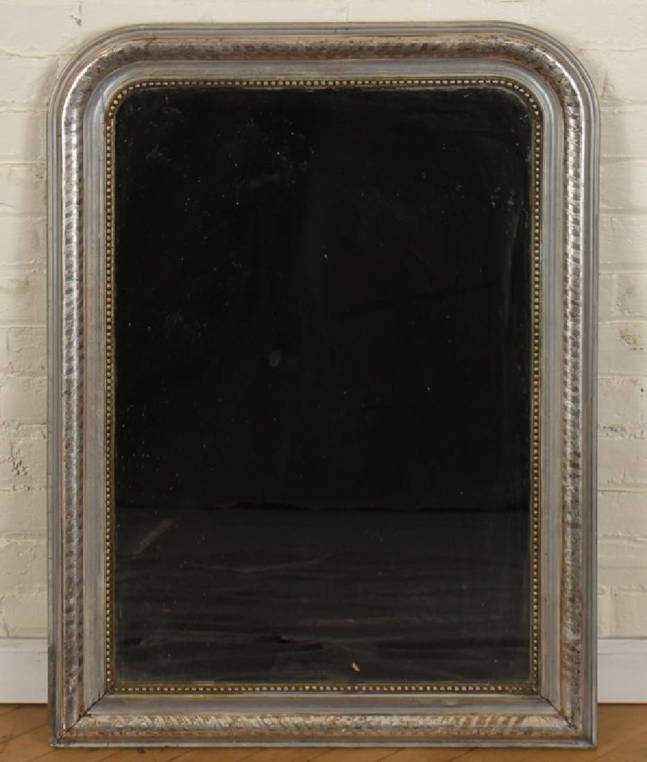 A LOUIS PHILLIPE SILVER GILT MIRROR C. 1870