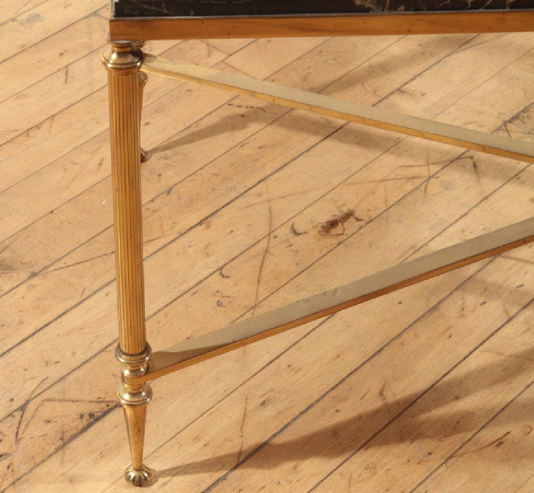 NEOCLASSICAL STYLE BRONZE MARBLE TOP COFFEE TABLE - 4