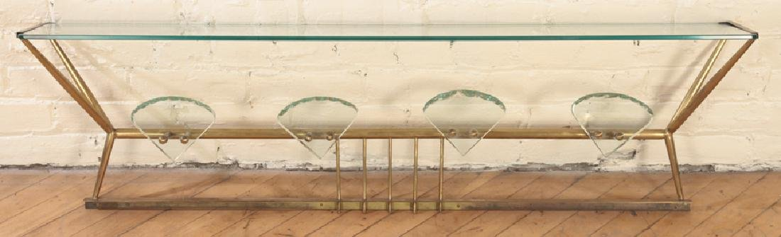 ITALIAN BRONZE GLASS WALL HANGING HAT RACK