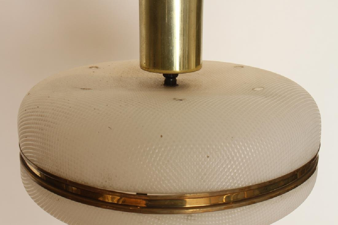 MID CENTURY MODERN PLASTIC HANGING LAMP C. 1960 - 2