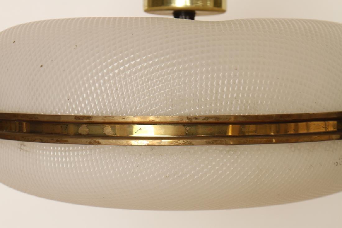 MID CENTURY MODERN PLASTIC HANGING LAMP C. 1960 - 3