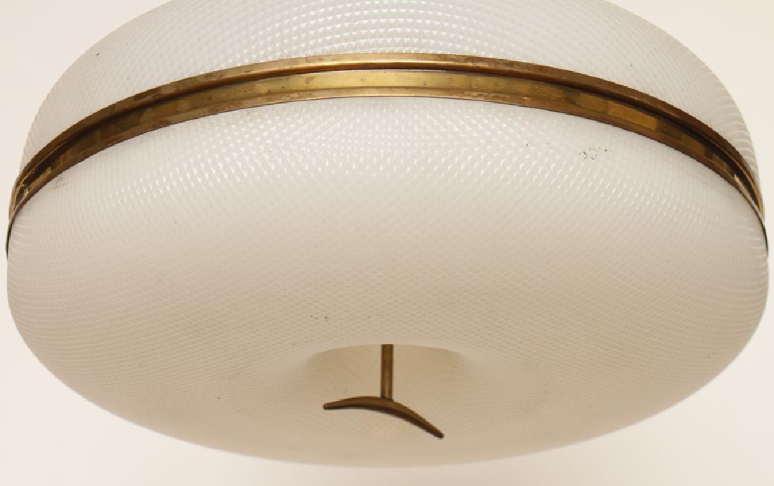 MID CENTURY MODERN PLASTIC HANGING LAMP C. 1960 - 4