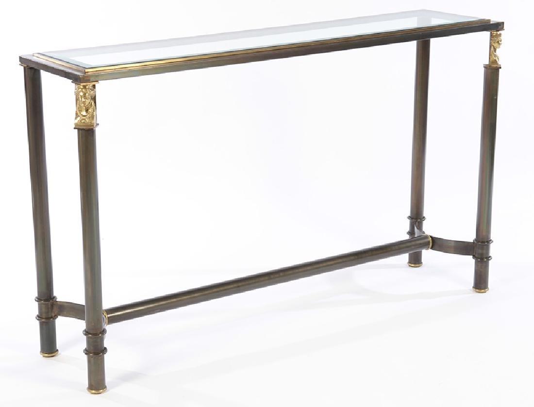 REGENCY STYLE IRON CONSOLE SOFA TABLE