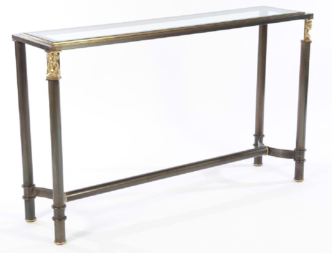 REGENCY STYLE IRON CONSOLE SOFA TABLE