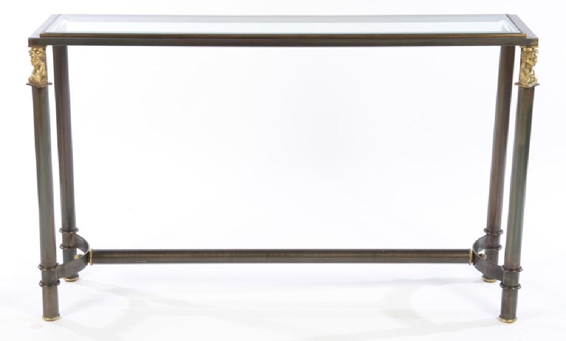 REGENCY STYLE IRON CONSOLE SOFA TABLE - 2