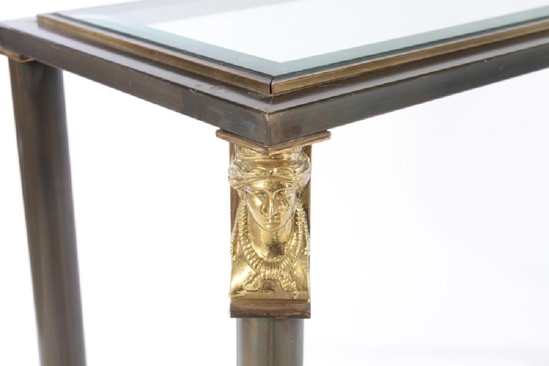 REGENCY STYLE IRON CONSOLE SOFA TABLE - 4