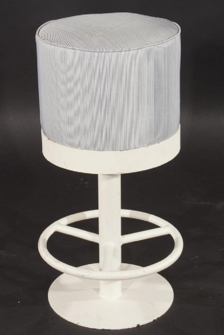 SET OF 3 MID CENTURY MODERN IRON BAR STOOLS C1980 - 2