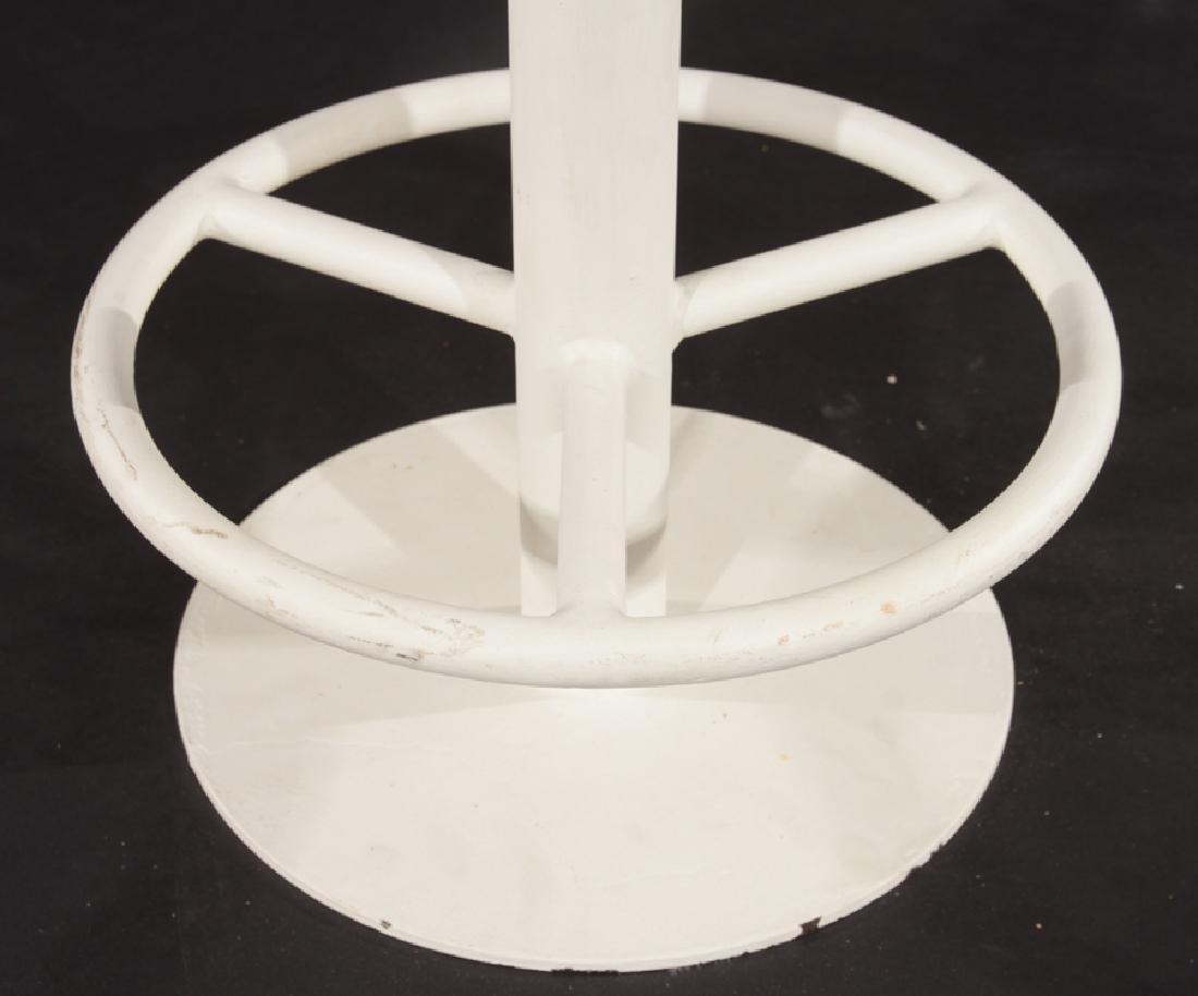 SET OF 3 MID CENTURY MODERN IRON BAR STOOLS C1980 - 5