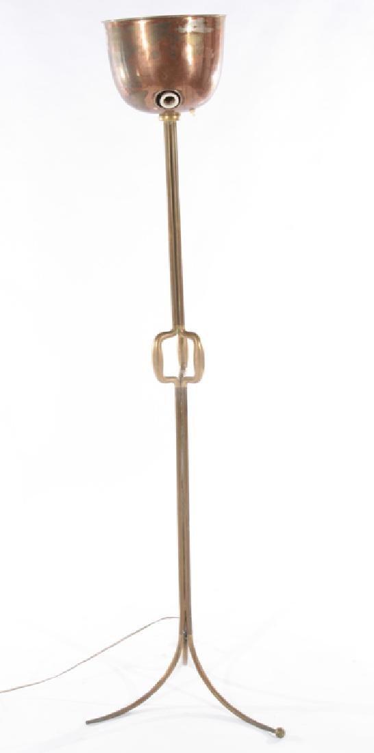 BRONZE MID CENTURY MODERN FLOOR LAMP C.1960