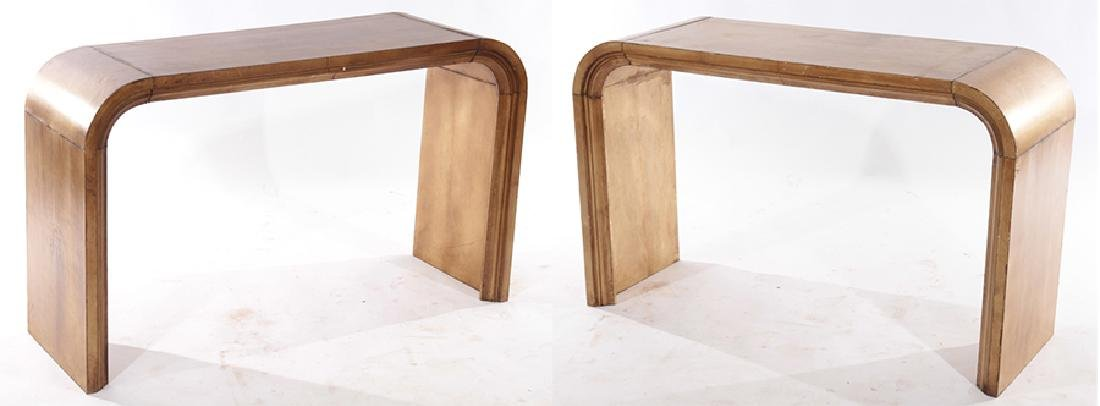 PAIR JEAN-MICHEL FRANK U FORM CONSOLE TABLES 1960