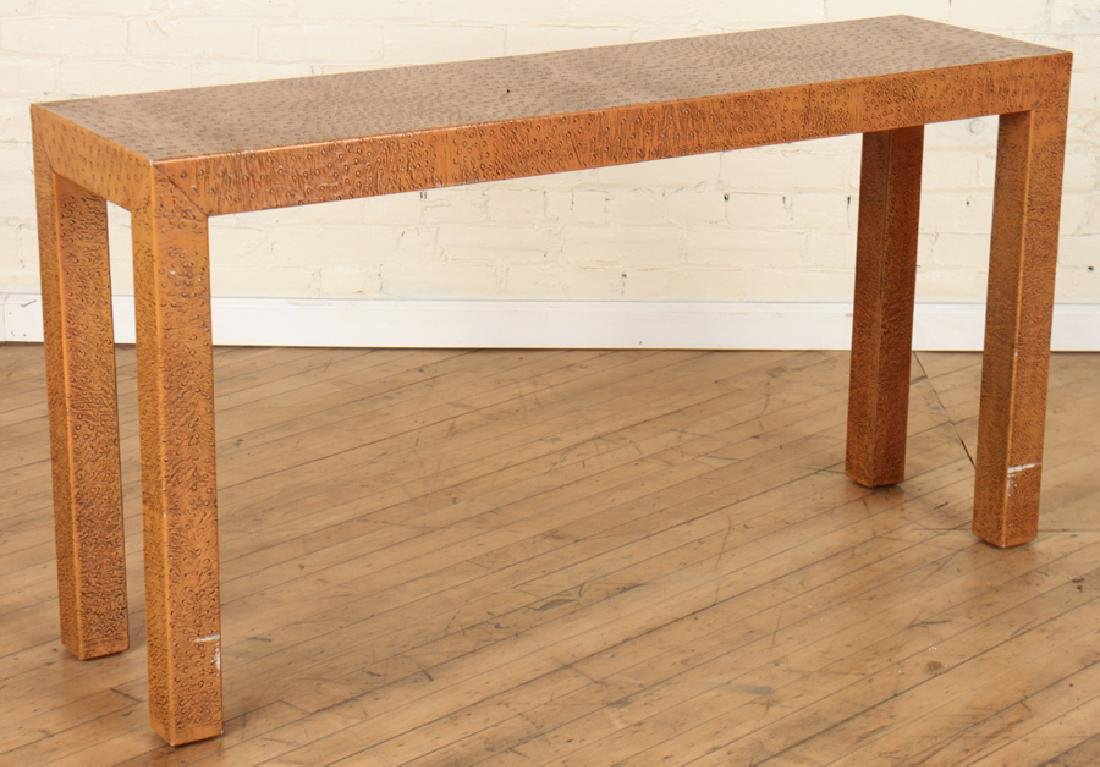 FAUX OSTRICH SKIN CONSOLE TABLE