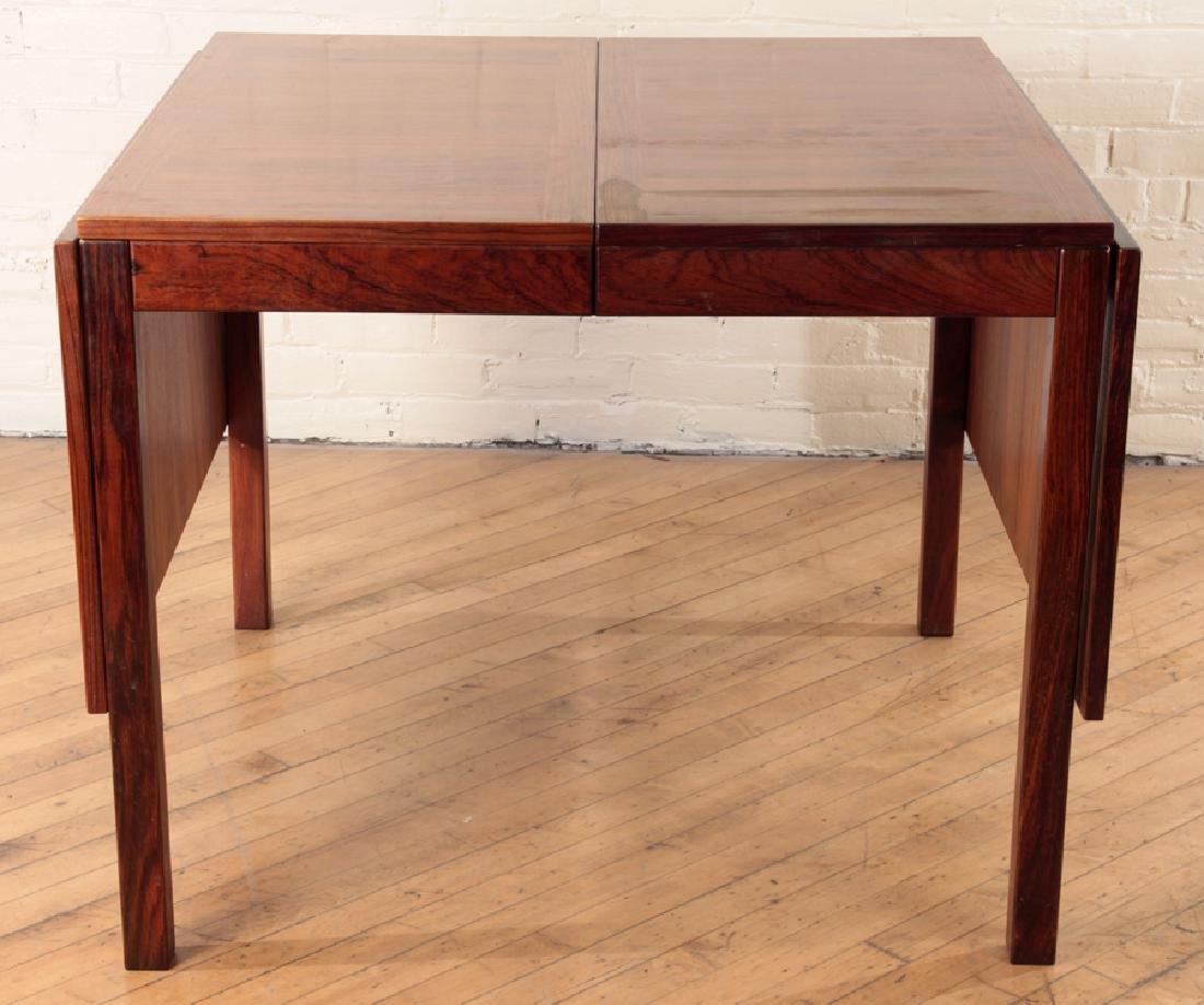 DANISH ROSEWOOD TABLE LABELED VEGLE STOLE