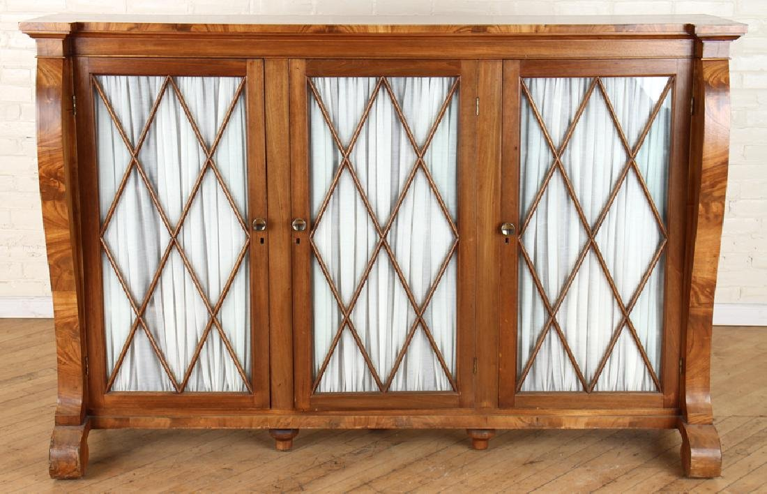 FRENCH EMPIRE STYLE MAHOGANY BOOKCASE CIRCA 1930