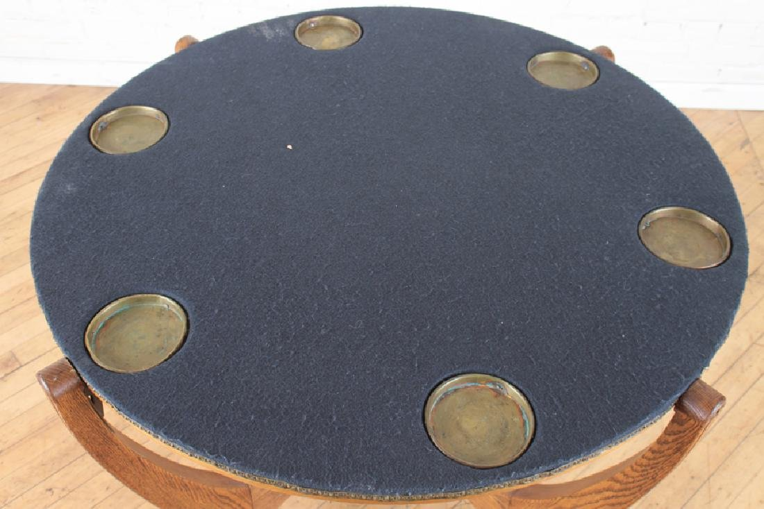 HUNZINGER OAK FLIP TOP GAMES TABLE C1900 - 4