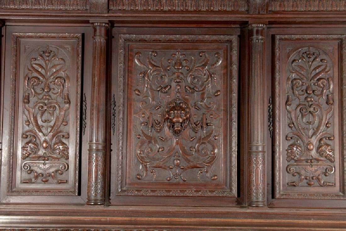 LATE 19TH CENT FRENCH CARVED WALNUT CUPBOARD 1890 - 2
