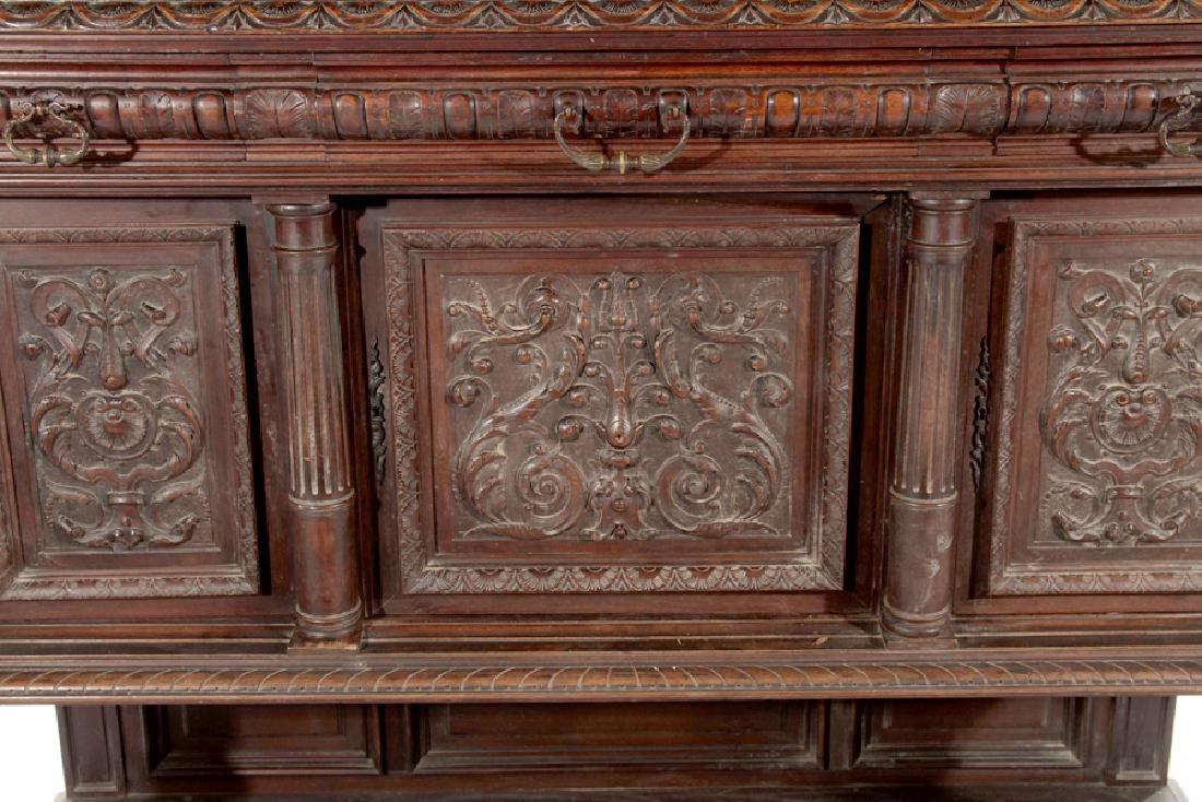 LATE 19TH CENT FRENCH CARVED WALNUT CUPBOARD 1890 - 5