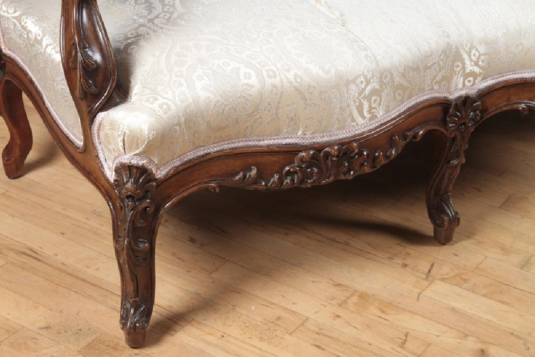 HEAVILY CARVED AMERICAN VICTORIAN ROSEWOOD SOFA - 5