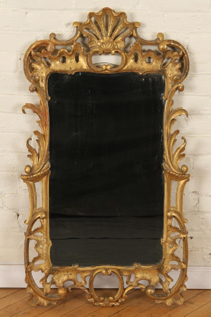 19TH CENT. GILT CARVED MIRROR ROCOCO STYLE