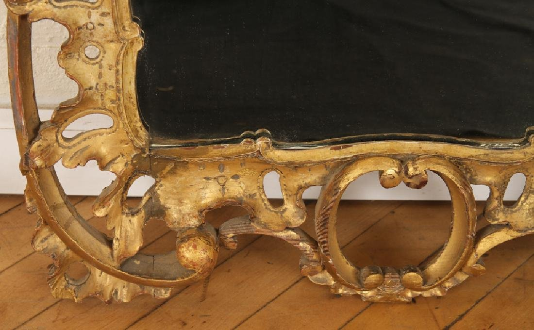 19TH CENT. GILT CARVED MIRROR ROCOCO STYLE - 3