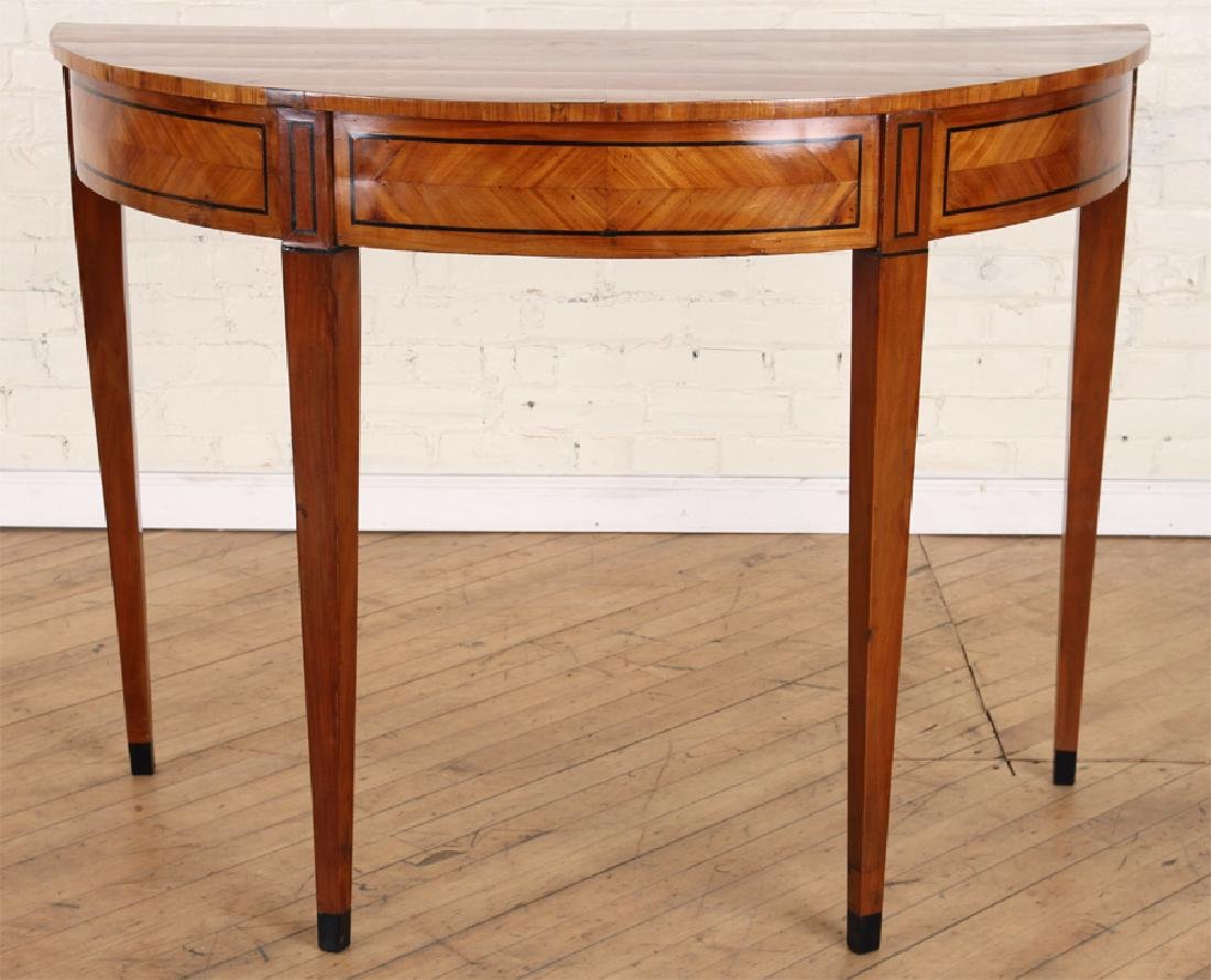 19TH C. BIEDERMEIER STYLE SATINWOOD CONSOLE TABLE