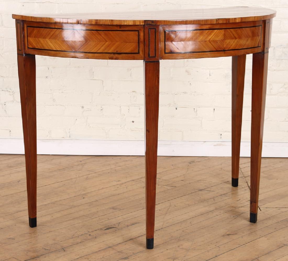 19TH C. BIEDERMEIER STYLE SATINWOOD CONSOLE TABLE - 2
