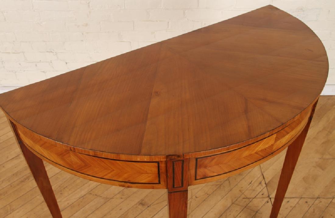 19TH C. BIEDERMEIER STYLE SATINWOOD CONSOLE TABLE - 3