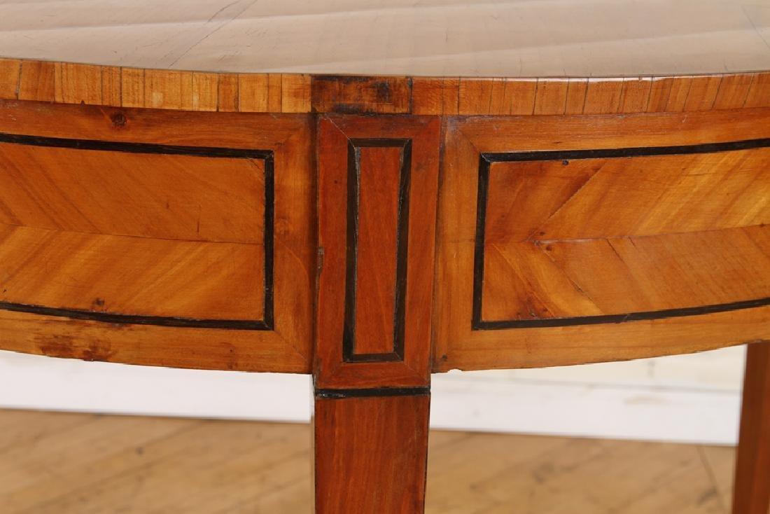 19TH C. BIEDERMEIER STYLE SATINWOOD CONSOLE TABLE - 4