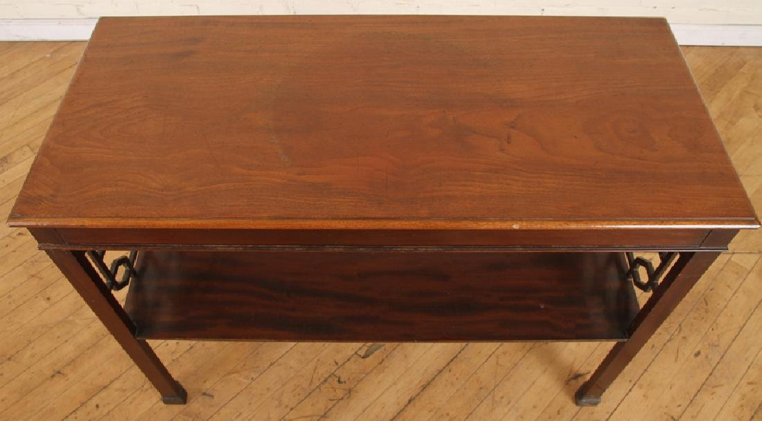 CHIPPENDALE STYLE WALNUT CONSOLE TABLE C.1920 - 3