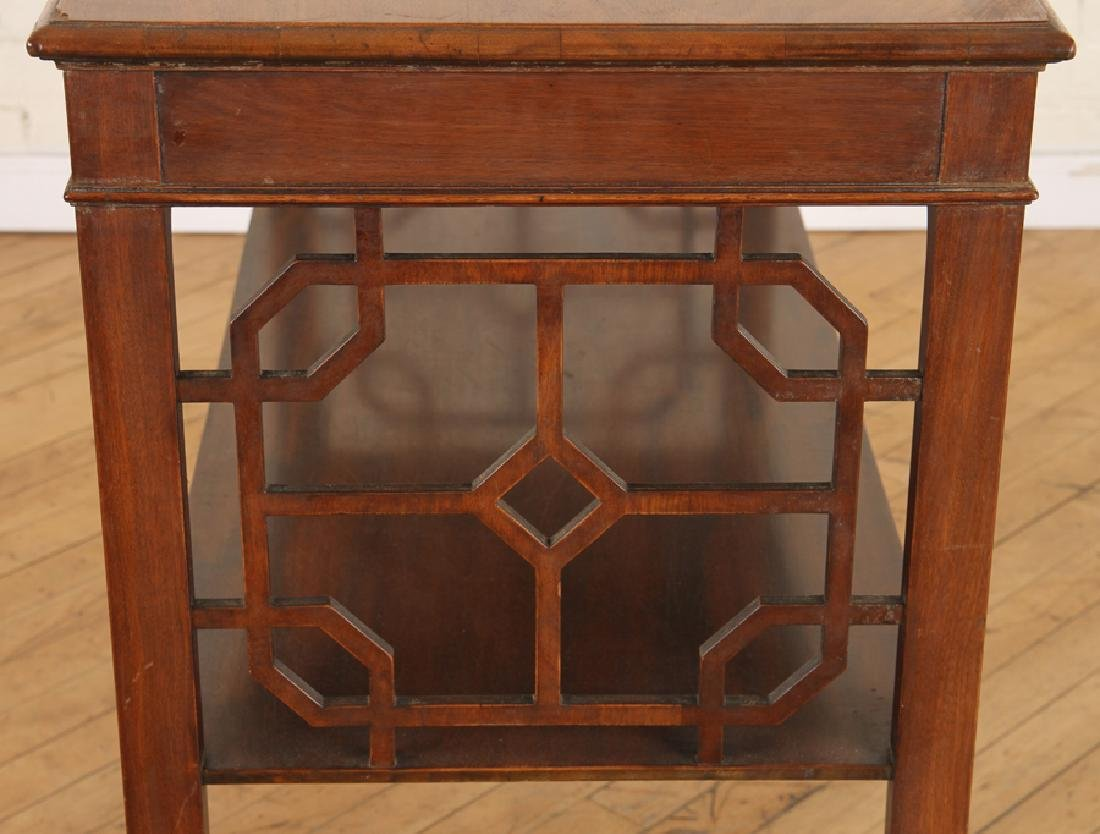 CHIPPENDALE STYLE WALNUT CONSOLE TABLE C.1920 - 4