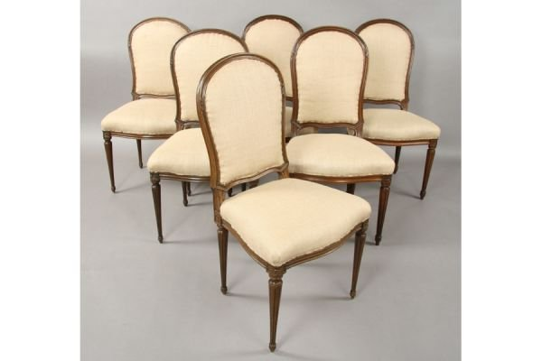 22: Nice large set of twelve french dining chairs chair