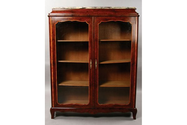 23:rosewood French marble top bookcase