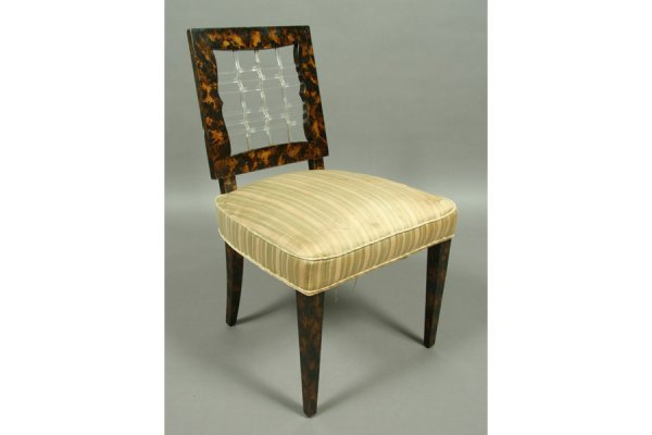 228: Grossfeld House style side chair with faux
