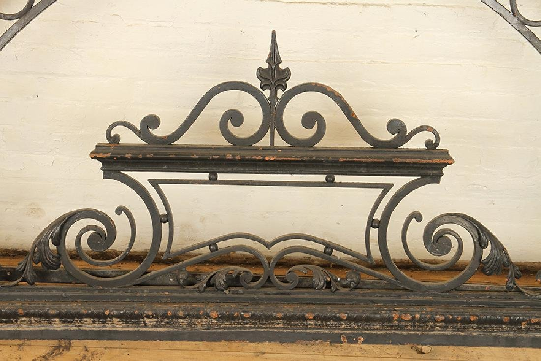 PAIR BLACK IRON GATES & ARCH FORM TRANSOM C.1920 - 7