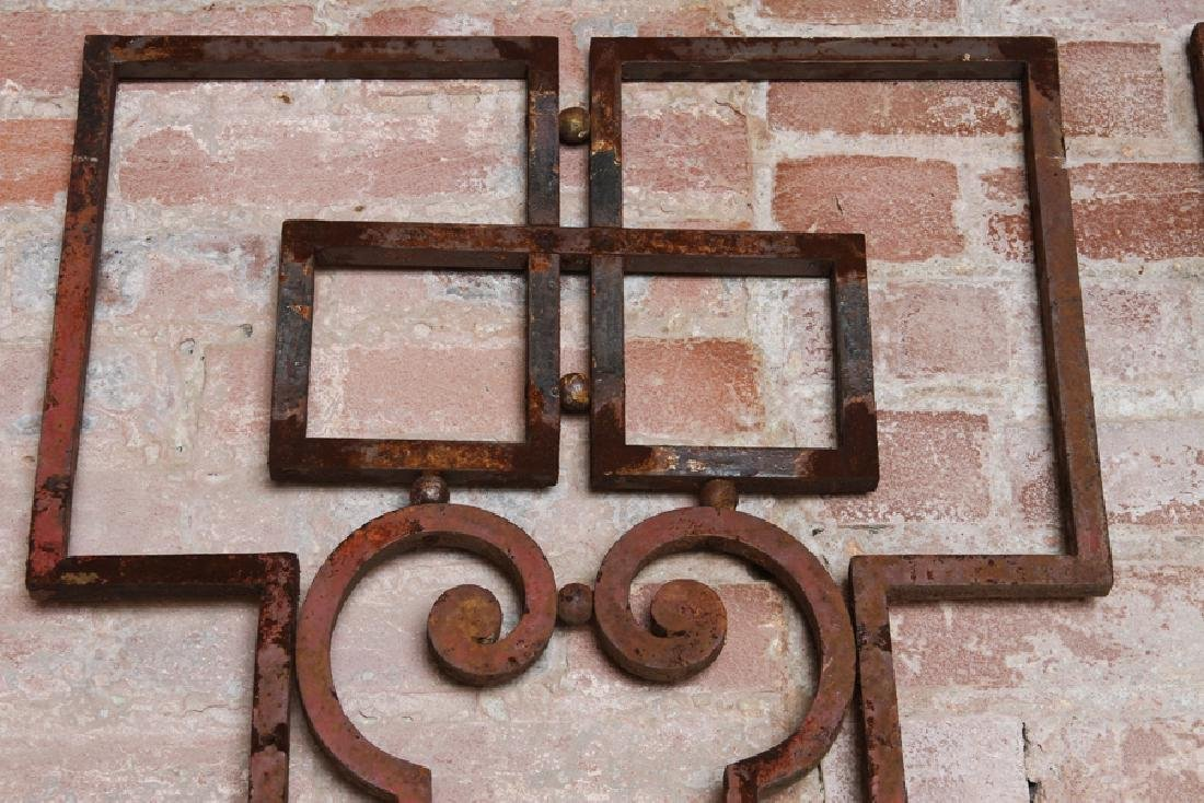 PAIR WROUGHT IRON PANELS CIRCA 1920 - 2