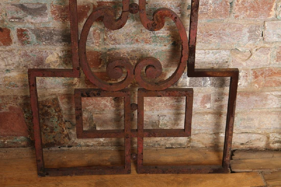 PAIR WROUGHT IRON PANELS CIRCA 1920 - 4
