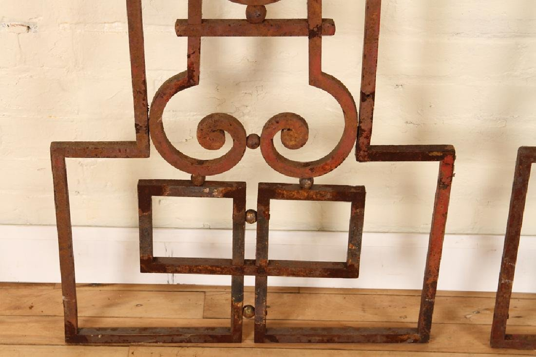 PAIR WROUGHT IRON PANELS CIRCA 1920 - 5