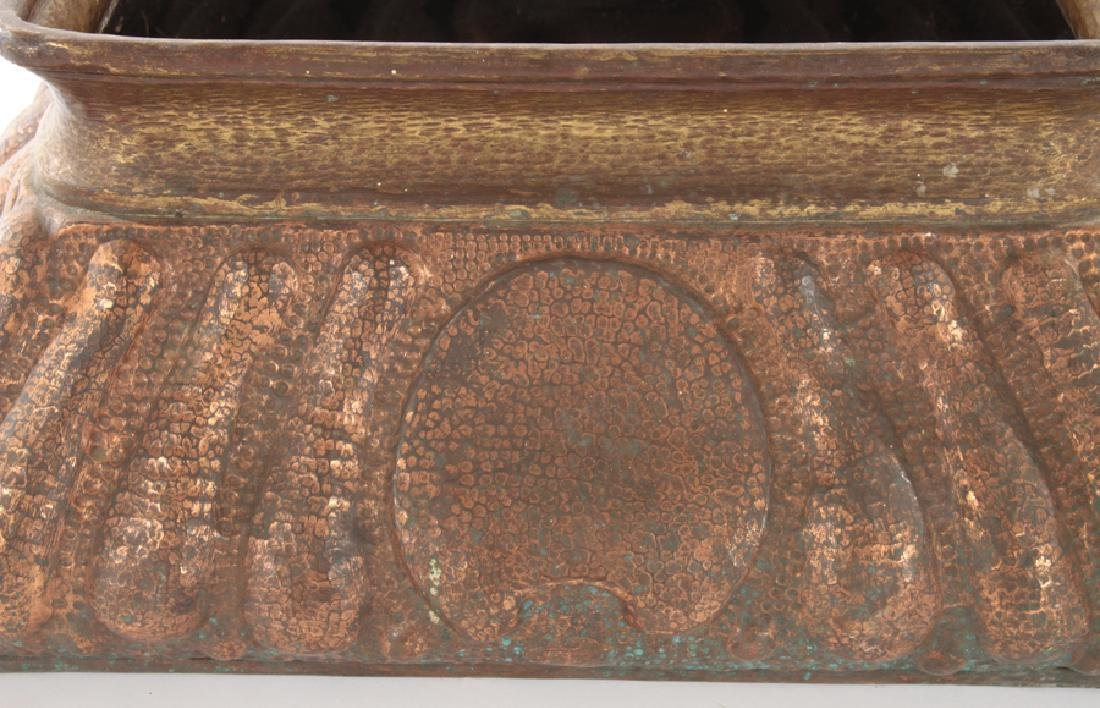 UNUSUAL FRENCH COPPER TABLE TOP PLANTER C.1940 - 3