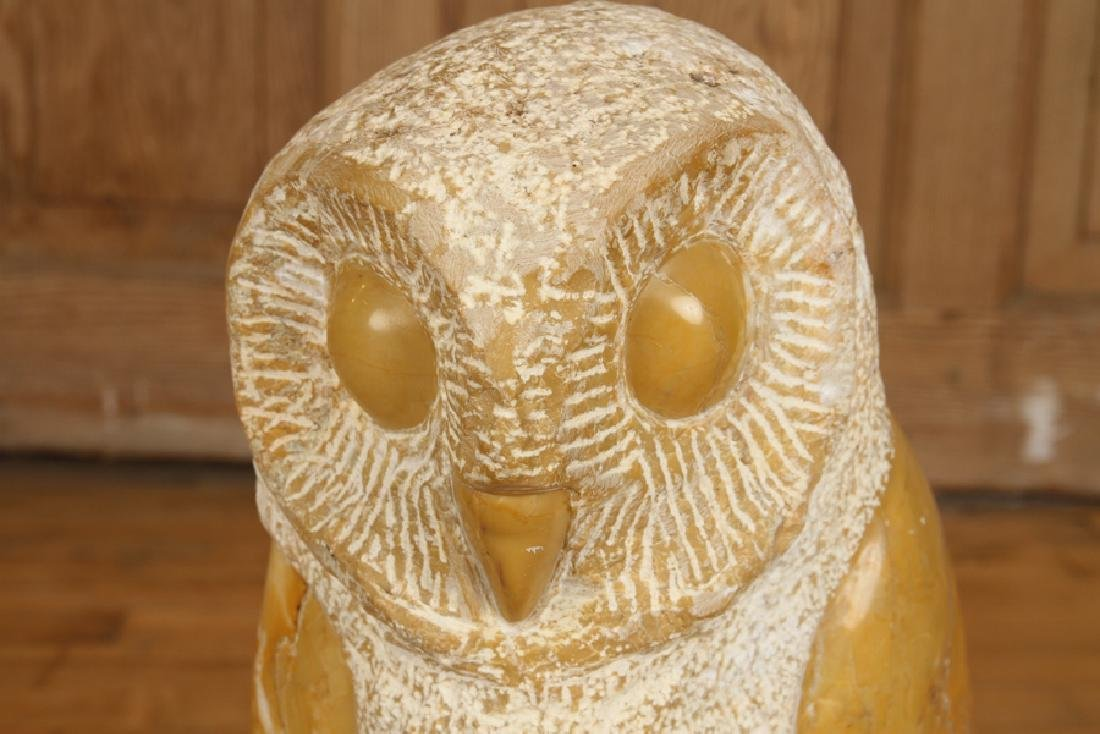CARVED MARBLE OWL - 2