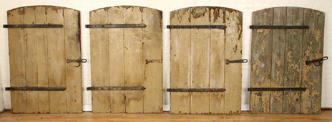 SET 7 WROUGHT IRON WOOD DOORS CIRCA 1900 - 3