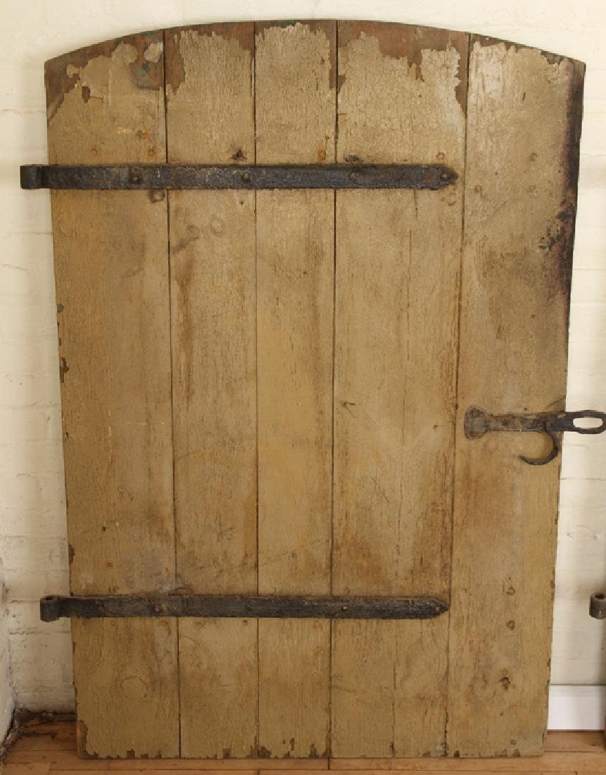 SET 7 WROUGHT IRON WOOD DOORS CIRCA 1900 - 4
