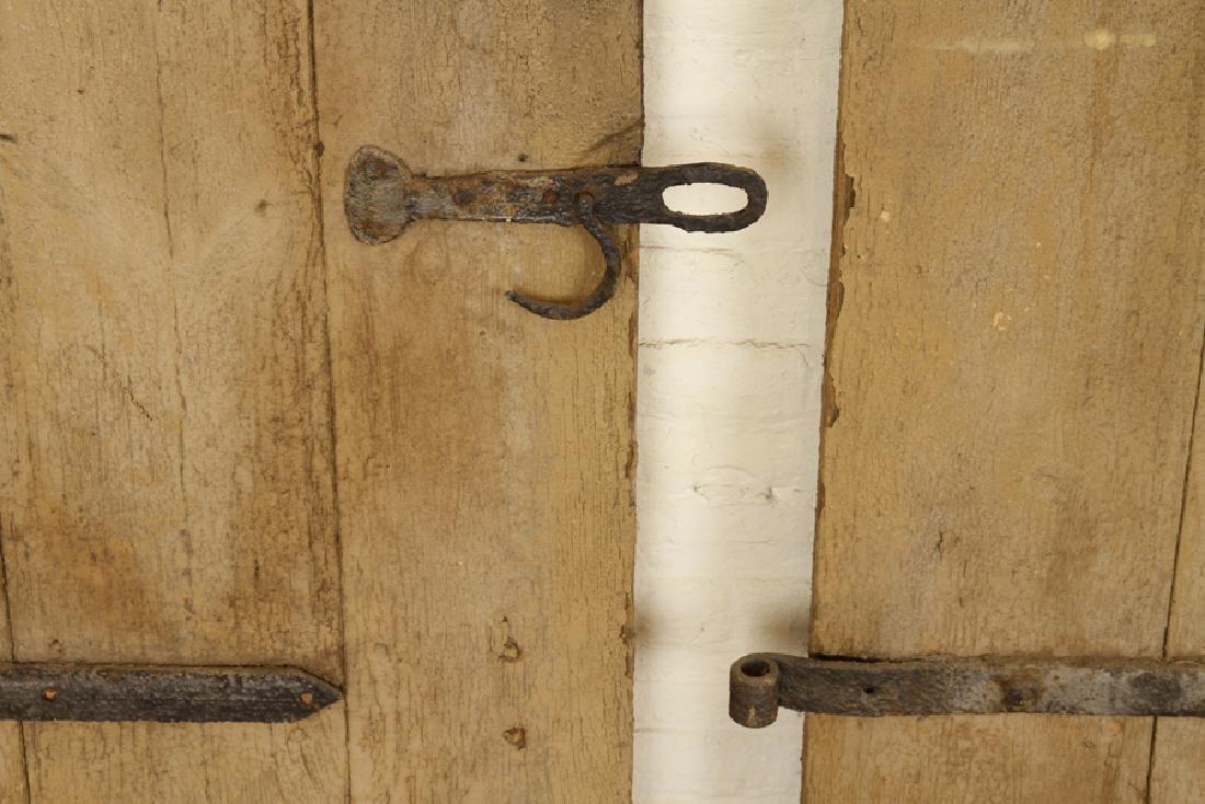 SET 7 WROUGHT IRON WOOD DOORS CIRCA 1900 - 6