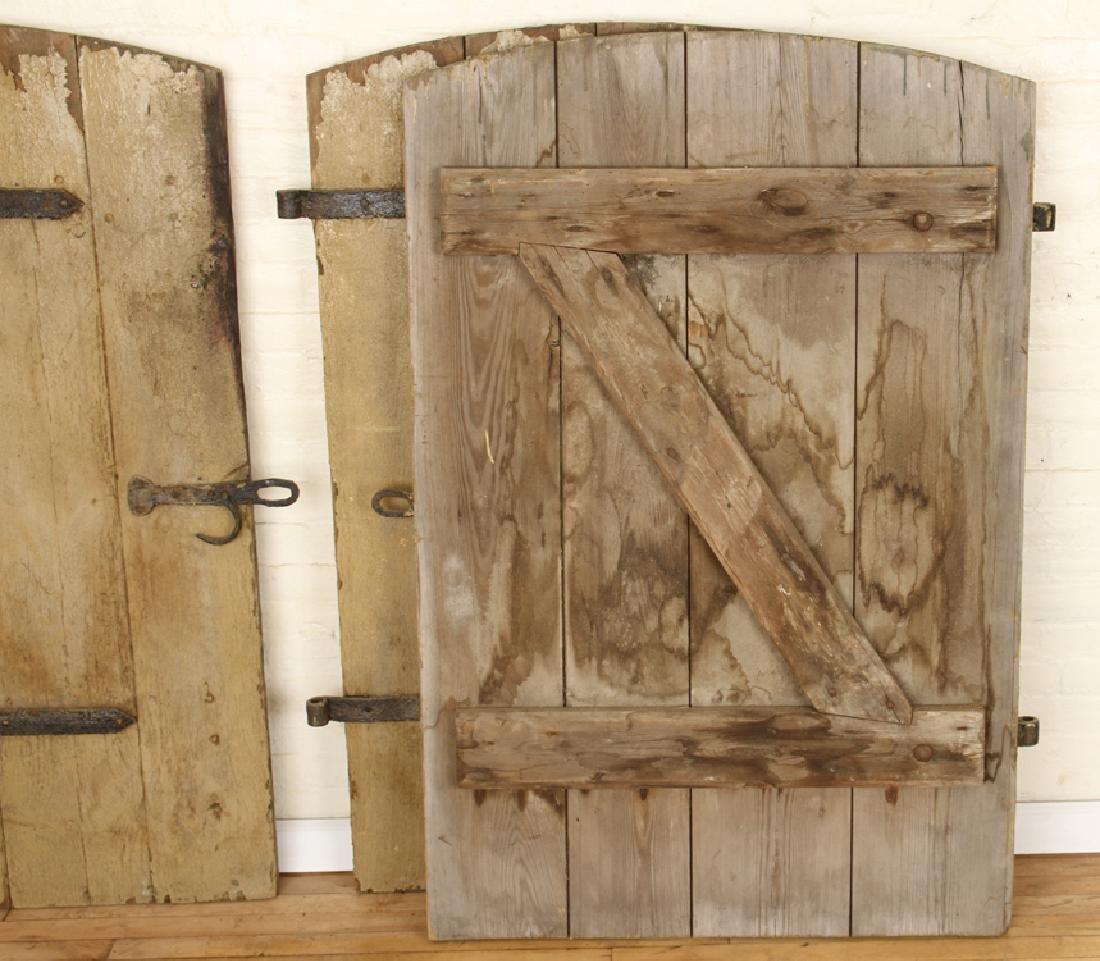 SET 7 WROUGHT IRON WOOD DOORS CIRCA 1900 - 7