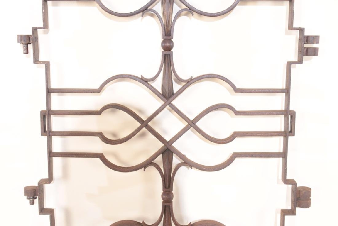 FRENCH IRON GATE IN REGENCY STYLE C.1920 - 3