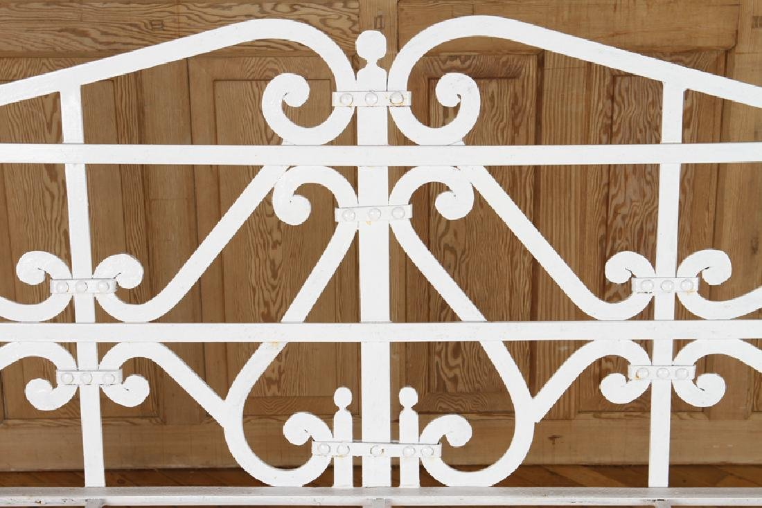 REGENCY STYLE WROUGHT IRON BENCH - 3