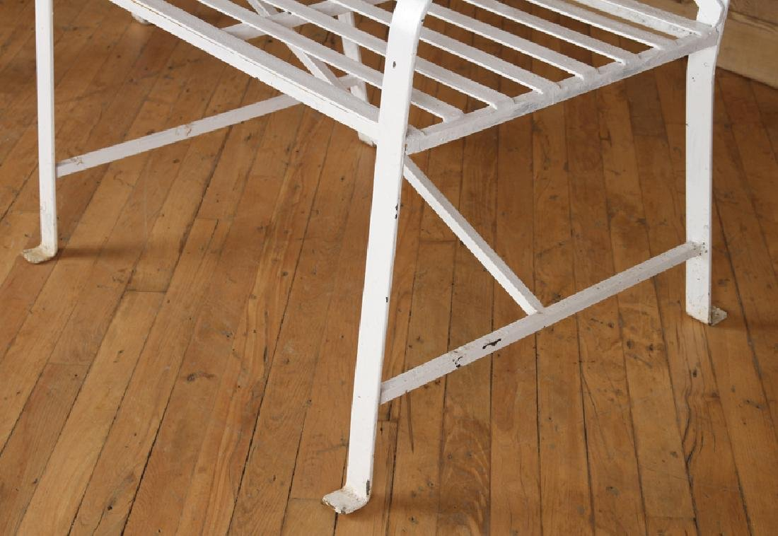 REGENCY STYLE WROUGHT IRON BENCH - 4