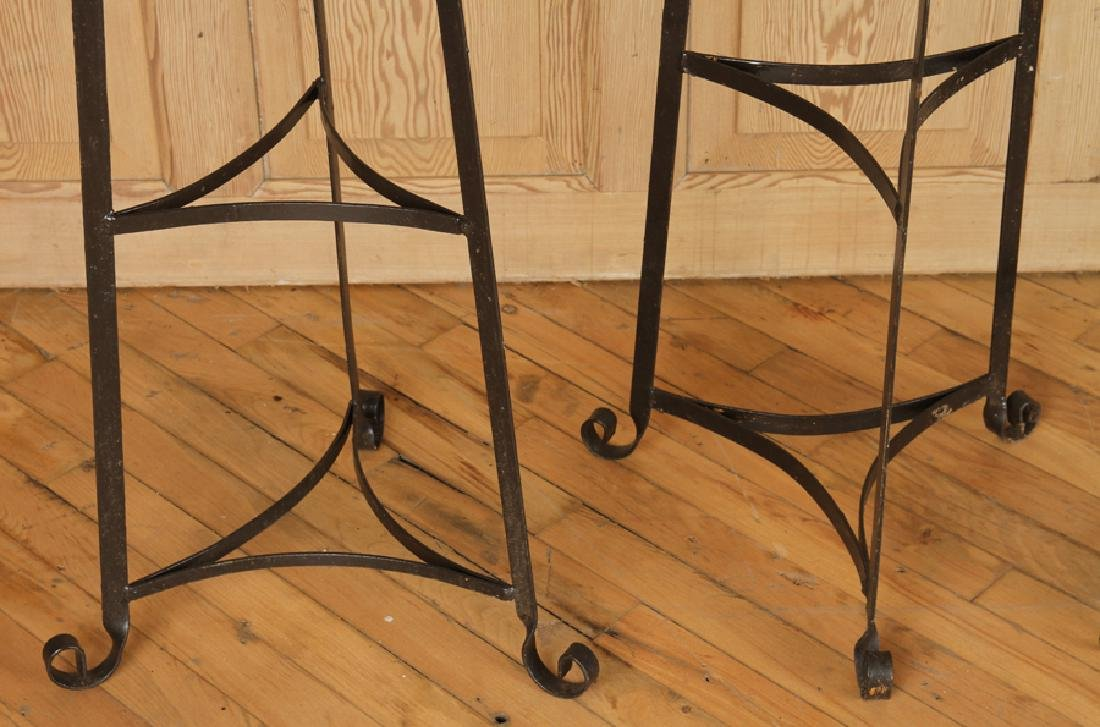 SET OF SIX WROUGHT IRON PLANT STANDS - 3