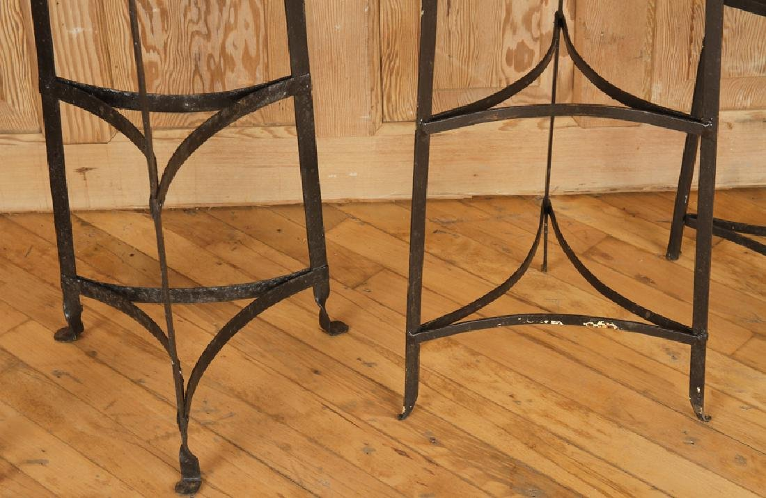 SET OF SIX WROUGHT IRON PLANT STANDS - 5