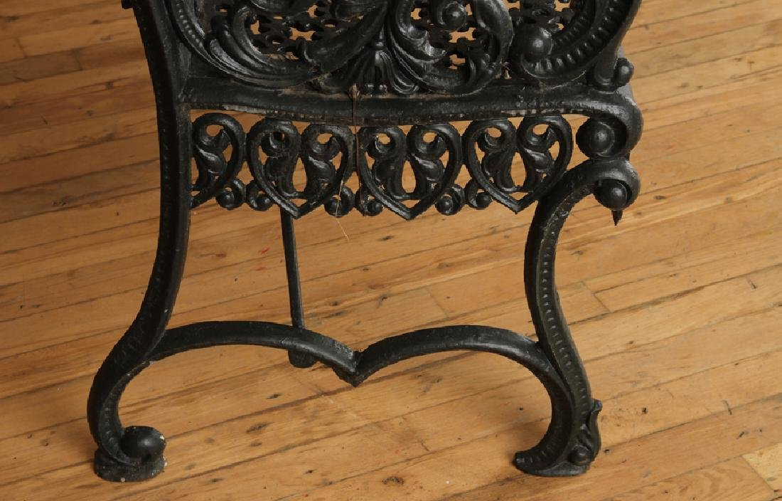 CAST IRON GARDEN BENCH SIGNED PETER TIMMES SON - 5